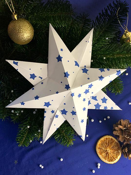 étoile en papier